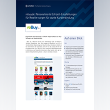 Download Best Practice reBuy: Recommendations mit prudsys RDE